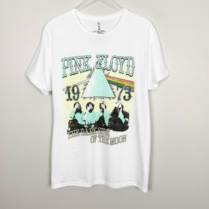Tops - PINK FLOYD Oversized Graphic Band Tee M Bright